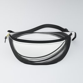Minimal Circle black and white Fanny Pack
