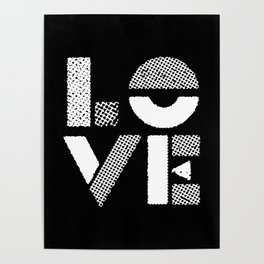 Love black and white contemporary minimalist typography design home wall decor bedroom Poster