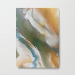 Abstract Earth Tones Metal Print