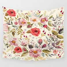 Floral Theme Wall Tapestry