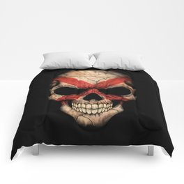 Dark Skull with Flag of Alabama Comforters