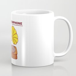 The Grammarphone - Funny Gramophone Wordplay Coffee Mug