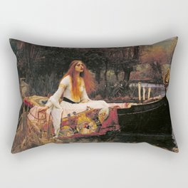 The Lady of Shallot - John William Waterhouse Rectangular Pillow