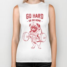 GO HARD OR GO HOME Biker Tank