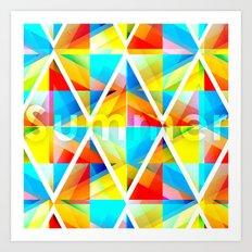 Summer Triangles Art Print