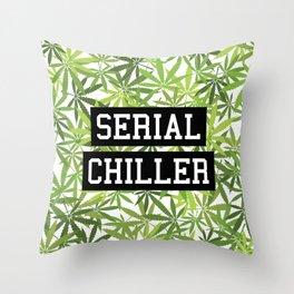 Serial Chiller Throw Pillow