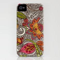 Random Flowers iPhone (4, 4s) Slim Case