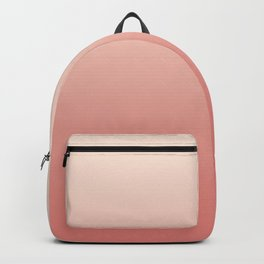 Ombre Pink Coral Backpack
