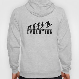 The Evolution Of Man And Snowboarding Hoody