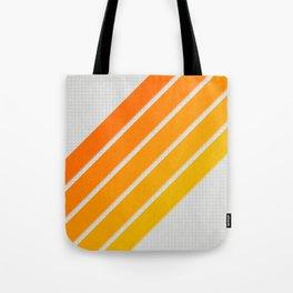 Orange Color Drift Tote Bag