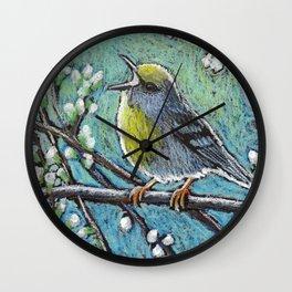 Brewster's Warbler Wall Clock