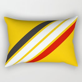 Oldschool Retro Stripes Rectangular Pillow