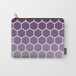 Purple gradient honey comb pattern Carry-All Pouch