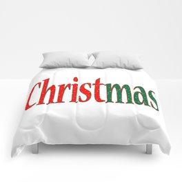 Christmas Holiday Text Comforters