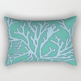 coral aqua Rectangular Pillow