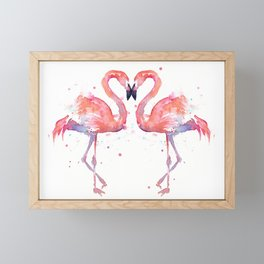 Pink Flamingo Love Two Flamingos Framed Mini Art Print