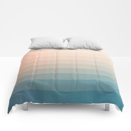 Lumen, Turquoise and Pink Glow Comforters