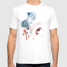 The Soldier MEDIUM White Mens Fitted Tee