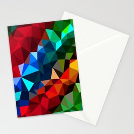 Geometric elements Stationery Cards