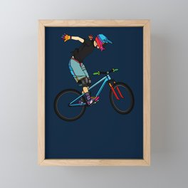 Freeride Framed Mini Art Print
