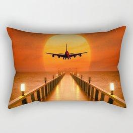 Sunset Takeoff Rectangular Pillow