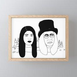 Two Weirdos in a Pod Framed Mini Art Print