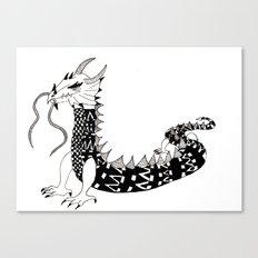 Dragon of the Dark Canvas Print