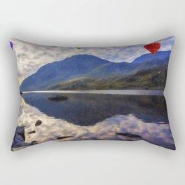 Balloon Flight At Sunrise Rectangular Pillow