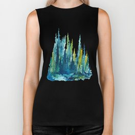 Limelight Pines - Pine Forest Biker Tank