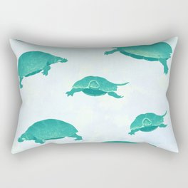Song of the turtle- save our seas Rectangular Pillow
