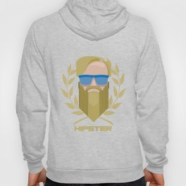Hipster with glasses and beard Hoody