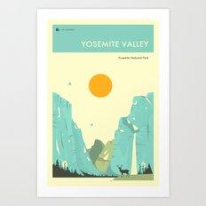 YOSEMITE NATIONAL PARK POSTER Art Print