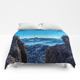 Moutain sky ice blue Comforters