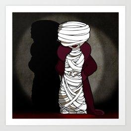 Mattie the Mummy Art Print