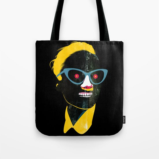Smile in black Tote Bag