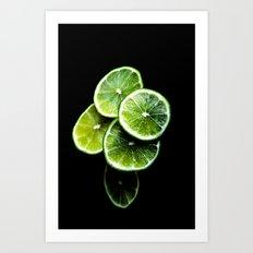lemon lima Art Print