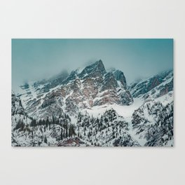 Jagged peaks in Banff National Park Canvas Print