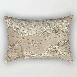Vintage Map of Bermuda and Jamaica (1767) Rectangular Pillow