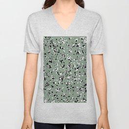 wild mint terrazzo pattern Unisex V-Neck