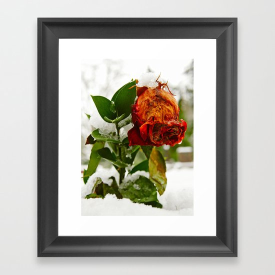 Frozen love Framed Art Print