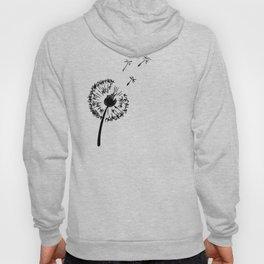 Black dandelion. Fly away Hoody