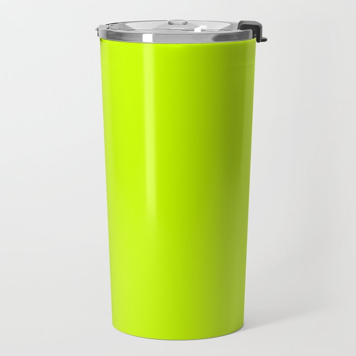 Bright green lime neon color Travel Mug