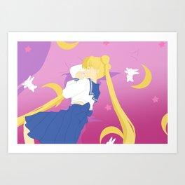 Sailor Moon Sweet Dreams Art Print