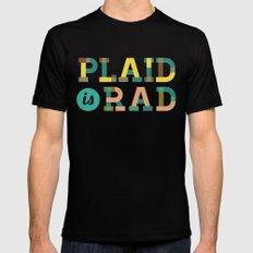 Plaid is Rad Mens Fitted Tee LARGE Black