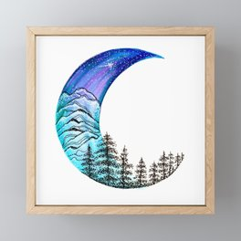 Moon Star Framed Mini Art Print
