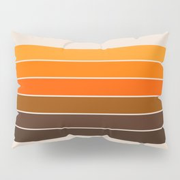 Golden Spring Stripes Pillow Sham