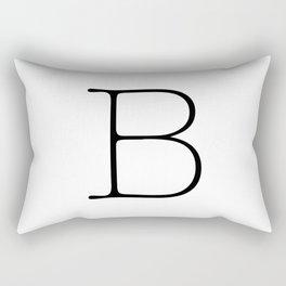 Letter B Typewriting Rectangular Pillow