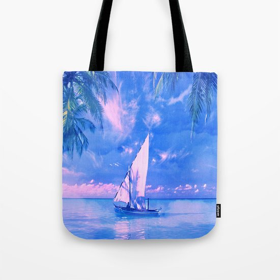 Tropical yachting Tote Bag