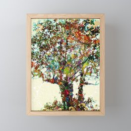Tree Mosaic Framed Mini Art Print