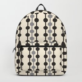 Geometric Droplets Pattern Series in Black Gray Cream Backpack